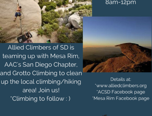 Mt. Woodson Cleanup 4/7/2018
